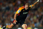 Gareth Anscombe, unwanted by the Blues, is goalkicking at 93.75 per cent. Photo / Getty Images