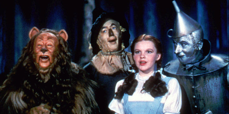 The 1939 Wizard of Oz with Judy Garland as Dorothy. Photo / AP