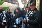 All Black fans head to a Four-Nations test. Photo / James Ihaka