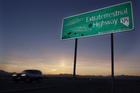 Extraterrestrial Highway near Rachel, Nevada. Photo / AP