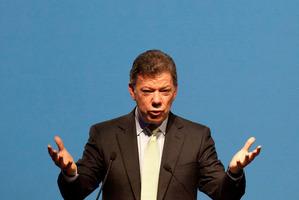 Colombian President Juan Manuel Santos. Photo / AP