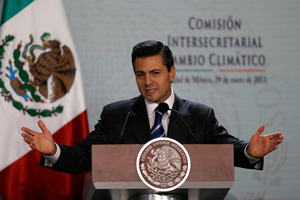 President Enrique Pena Nieto wants a new era of co-operation with the Asia-Pacific region. Photo / AP