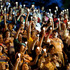 People held up candles during candlelight vigil for Venezuela's President Hugo Chavez to pray for his health before his passing. Photo / AP