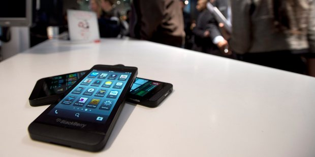 The Blackberry Z10 goes on sale in Toronto. Smartphones are projected to chew through a whopping 2.66GB of data per month by 2017. Photo / AP