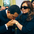 Venezuela's President Hugo Chavez kisses the hand of Argentina's President Cristina Fernandez during the wake of her husband. Photo / AP 
