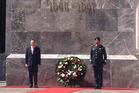 New Zealand Prime Minister John Key lays a wreath at Los Ninos Heroes monument in Mexico City. Photo / Supplied