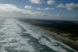 Top Gear will be filming on Ninety Mile Beach. Photo / Richard Robinson