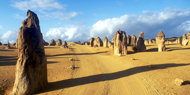 The Pinnacles at Nambung National Park, formed about 25,000 years ago, attract almost 200,000 visitors a year. Photo / Supplied