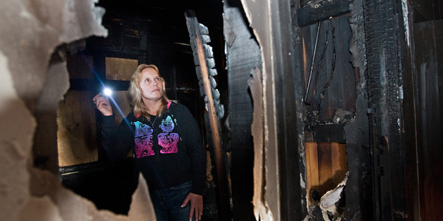 Rotorua woman Sally Blumenthal lost everything in the 2011 house fire. File photo / The Daily Post