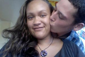 Casey Nathan, pictured with Hayden Tukiri, died in childbirth last year.