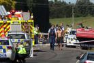 The crash scene on Welcome Bay Road. Photo / APN