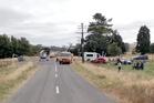 Car Crash South Road No 2, Eketahuna. Photo / Supplied