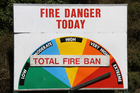 The Wellington region will impose a total fire ban from March 8 over Wellington City, Hutt City, Upper Hutt City, Porirua City and the Kapiti Coast District. Photo / APN