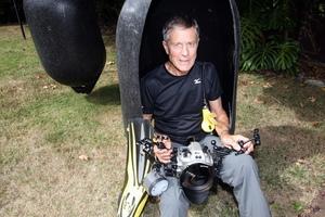 Quentin Bennett, underwater photographer from Napier. Photo / Paul Taylor