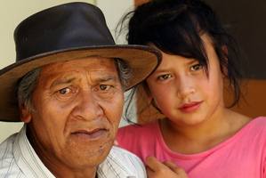Tiopira (Joe) Tumanako, with grand daughter Honey Tumanako. Photo / Paul Taylor