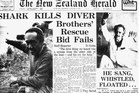 The <i>Herald</i>'s front page story on John Leith's death in 1976. Photo / File