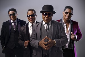 Jackie Jackson (far left) says fans asked the brothers to do a tour and sing a few of Michael's songs, so they could sing and dance to them. Photo / Supplied