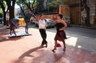 Spontaneous tango street moves are a common sight in La Boca. Photo / Paul Rush