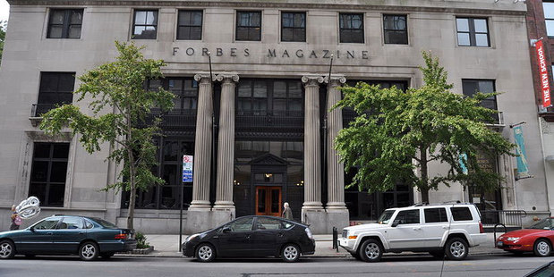 Forbes Magazine headquarters in New York City. Forbes this week published its 2013 Billionaires List. Photo / Wiki Commons