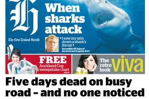 Today's front page of the New Zealand Herald. Photo / NZ Herald