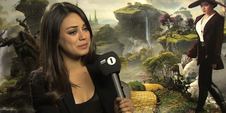 Mila Kunis during her interview with Chris Stark.