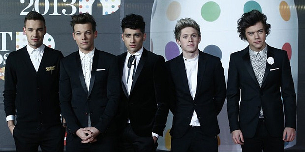 From left, Liam Payne, Louis Tomlinson, Zayn Malik, Niall Horan, and Harry Styles of One Direction. Photo/AP