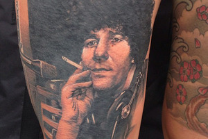 One of Millie Elder's tattoo tributes to Paul Holmes. Photo / Instagram