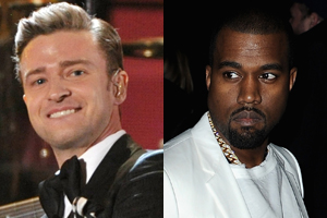 Justin Timberlake has mocked Kayne West on SNL. Photo / AP