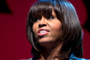 Personal financial data belonging to Michelle Obama has been leaked. Photo / AP