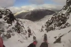 GoPro cam catches an ice climber losing his footing and sliding down the mountain side. These are the terrifying moments a climber loses his grip and plummets 100ft down the side of a Welsh mountain.