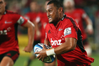 Robbie Fruean of the Crusaders runs the ball during the round five Super Rugby match between the Crusaders and the Bulls. Photo / Getty Images.
