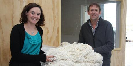 CRONZ director, John Wyma, with design student, Rebekah Harmen. Photo / Supplied