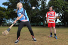 Rachel Grunwell takes on the ancient gaelic sport of Hurling. Photo / Getty Images