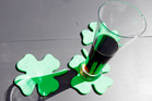 Shamrock drink coasters. Photo / Michael Craig