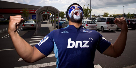 The Blues' No1 superfan Benjamin Lama. Photo / Michael Craig