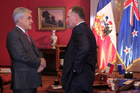 New Zealand Prime Minister John Key met with Chilean President Sebastian Pinera in Santiago, Chile. Photo / Supplied