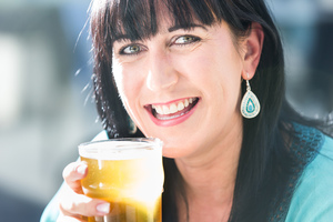 Wendy Roigard isn't a stereotypical beer-drinker. Photo / Martin Hunter