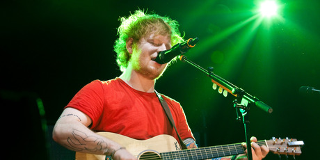 Ed Sheeran performs in concert at Vector arena. Photo / Neville Marriner