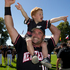 Black Sox captain Rhys Casley celebrates with his son Danny. Photo / Brett Phibbs