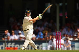 Steve Smith showed some grit, notching up 92 before being dismissed. Photo / Getty Images