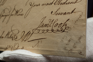 Captain James Cook's signature tells much about his character, says a historian. Photo / Sarah Ivey
