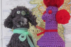 Poodle decanter covers. Photo / Supplied