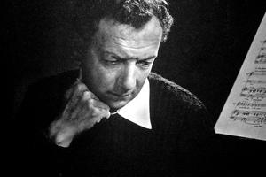Composer Benjamin Britten.