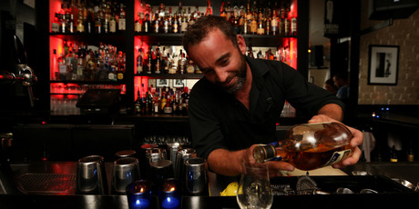 Owner Phil Mead at the Whiskey Bar. Photo Getty Images