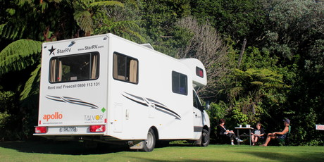 Motorhome holidays are becoming increasingly popular. Photo / Sarah Lawrence