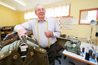 Trentham Military Camp tailor Barry Sarney, 78, has just signed a contract for another two years' work. Photo / Getty Images