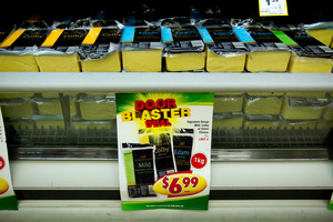 Countdown supermarkets are selling cheese as low as $6.99 for a 1kg block until tomorrow. Photo / Dean Purcell