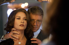 Catherine Zeta-Jones and Russell Crowe play a powerful married couple at war with each other in Broken City. Photo / Supplied