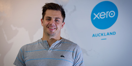 James Corbett found a job with Xero after graduating last year. 