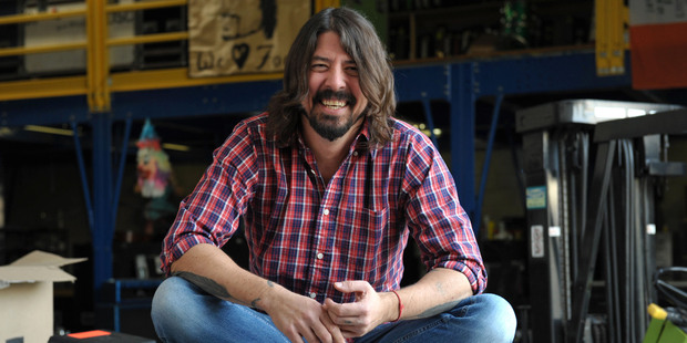 Musician turned film-maker Dave Grohl draws good people and fortune to himself. Photo / AP
